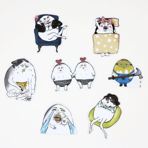 Eggheads/ Medium Sticker Set #3
