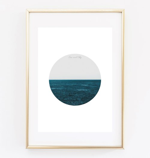sea ​​and sky can be customized Hanging Poster