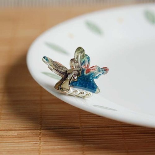 Ancient butterflies, butterfly clip bangs small side clip - blue