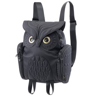 Morn Creations Genuine Classic Owl Backpack - Black(S)(OW-333)