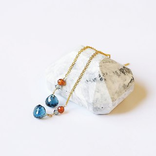 Natural London Blue Top Translucent Topaz Drops 14K GF Gifts Natural Stone Light Jewelry Crystal