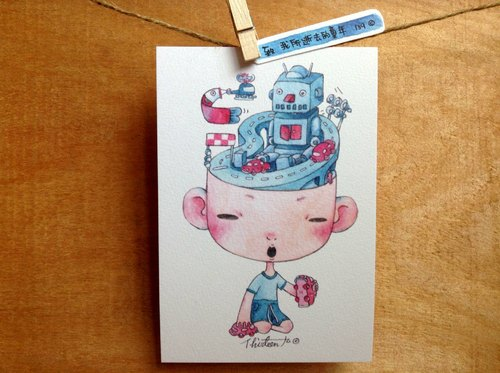 {139}lost childhood,illustration postcard