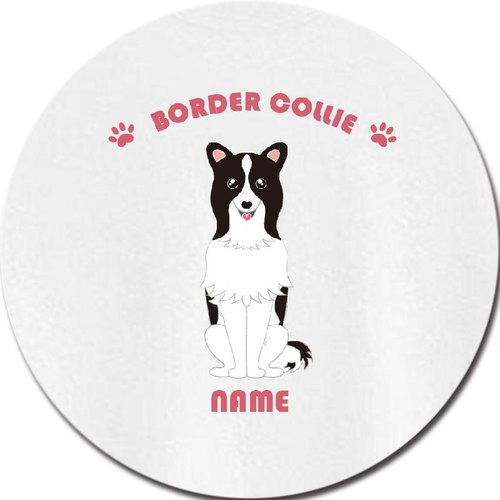 Hand-painted ceramic absorbent coasters wind Border Collie