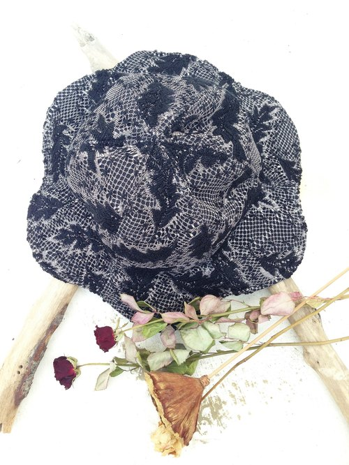 [Qucky] pinnata (black) / stiffness umbrella flowers cap
