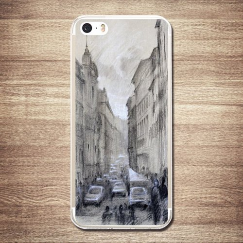 "[Rome, Italy Street - Landscape watercolor] iPhone 7/7 Plus ""ultra-thin transparent shell phone"", 3D three-dimensional relief printing, affectionate love boutique design"