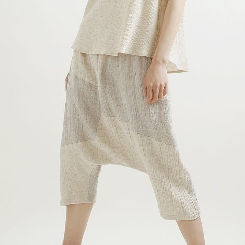 Songlun already wide plain white cotton pants S code
