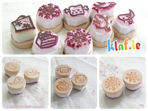 Lovely hand-carved rubber stamp clearing - each only a yo ~!