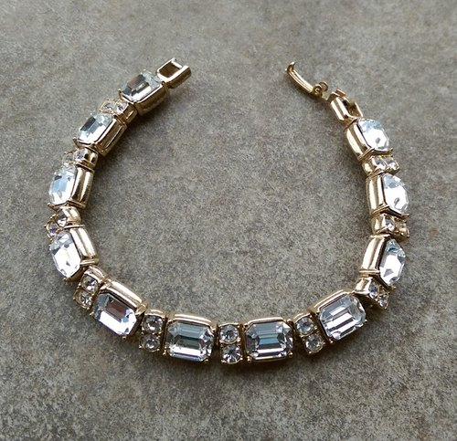 1960s antique rhinestone bracelet