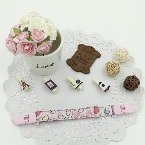 * Poof Princess sugar - Hand-headed handkerchief folder (scalable) ★ ★ Universal bibs clip clip clip carts ★ ★ ★ pacifier clip births D-26