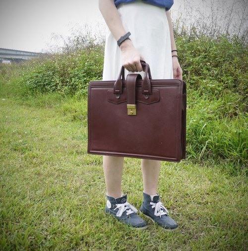 ShiKa skarn // color portable leather briefcase date