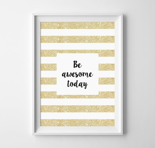 be awesome today(1) 可客製化 掛畫 海報