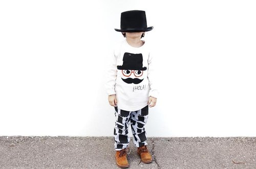 【Little Cocoa Bean】Organic Cotton Mr Pablo Long Sleeve Raglan