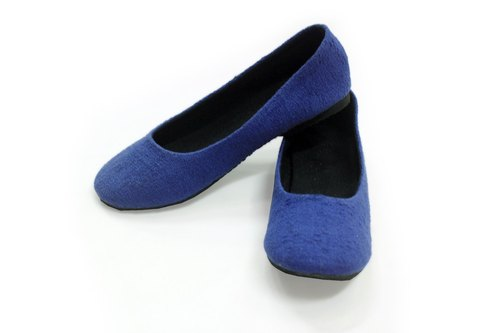 "EARTH.er  │BLUE ""ORGANIC OFFICE LADY"" Natural Hemp Office Lady Comfy Shoes│"