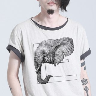 Elephant hand-painted letter T