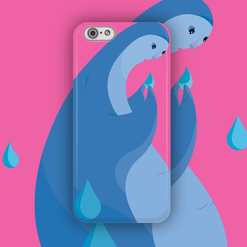 ▷ Umade ◀ Monsters_No.2 [iPhone7 (i7, i7plus, i6, i6s, i6plus, i6splus, i5se, i5s, i5c,) / Android (Samsung, Samsung, HTC, Sony) Phone Case / Accessories - matte hard shell - Artist creation] Ibbie Hsu