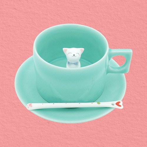 "Three shallow original ""milk meow"" Mug creative gifts birthday gift kitty ceramic cup"