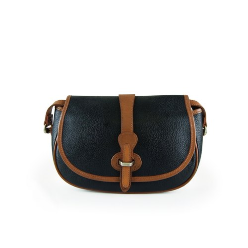A‧PRANK: DOLLY :: VINTAGE retro with black coffee genuine calfskin leather bag