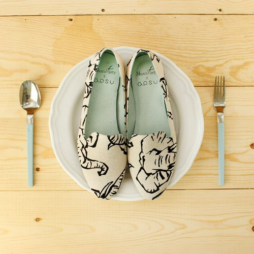 Long nose elephant Ou Beila [No. 23.5 X Spot] / shoes / handmade custom / Japanese cloth