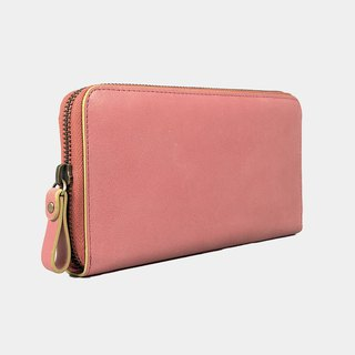Baimiao Leather Zip Wallet – Pink