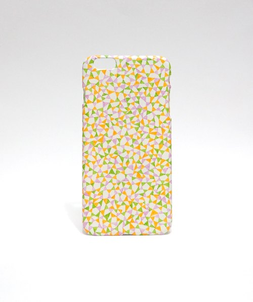 [Triangle Thinking - picnic color] iPhone 6 Plus Handmade protective shell