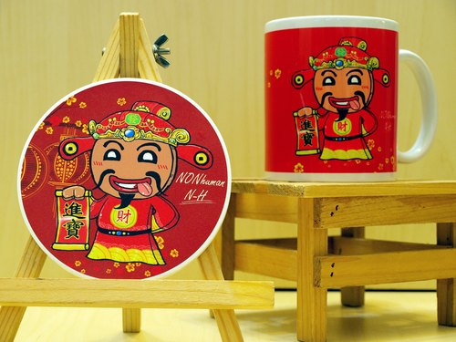 """NONhuman‧ inhuman"" packed with colorful gingerbread ‧! . Mug (straight) - Coaster combination"