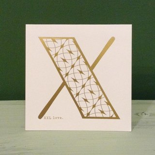 Bronzing letter card envelope sticker group -X