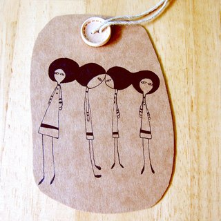 Bigheadedness girl alphabetical bookmark - M