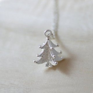 [Jin Xialin ‧] Christmas tree ornaments silver necklace
