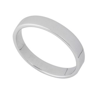 Minimalist fashion Silver Ring 号 13 (3.1mm)