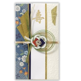 Shoushan dark blue wedding royal wish JP blessing gift gold bag
