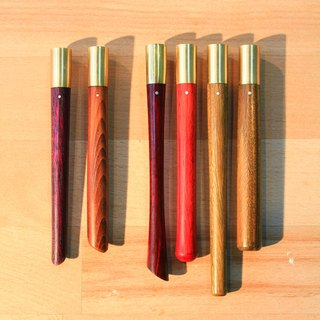 Stationery - compound pencil - purple heart / yew (out of stock) / Branch Tan / green sandalwood