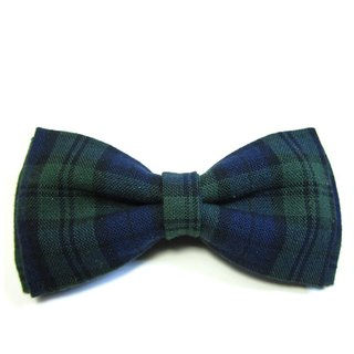 ▲ Scotland Blue edge tie Hand-made Bow Tie