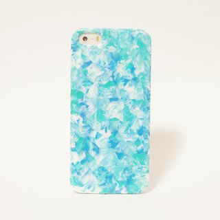 Pastoral series // Mink blue mint green mix / / Hand-painted oil painting mobile phone shell