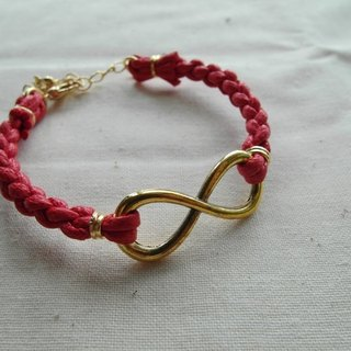 ~ M + Bear ~ Love Unlimited Love Unlimited, 8 wax rope braided bracelet (gold red)