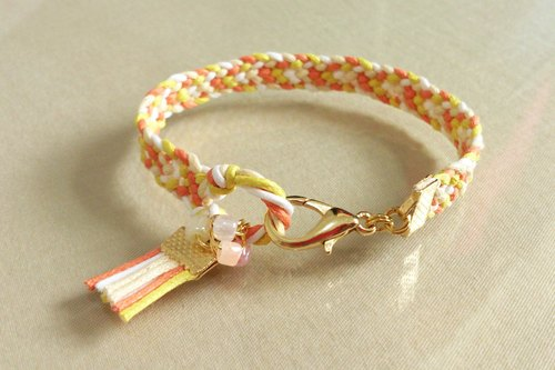~ Fashion national wind ~ color wax rope braided bracelet ~ summer sunflower