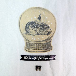 ✡ small scene - really night in the small sika deer 4 hand-painted kraft paper illustrator stickers