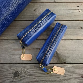 <隆鞄工坊>Pen Bag/Pencil Box/Storage Bag (Sapphire Blue)