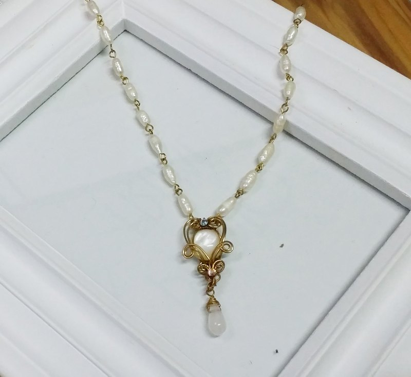 Kee Ling Tong set decoration - rose as name} {Rococo Fritillaria package insert pearl necklace