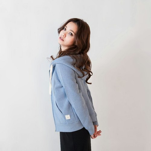 SUMI △ Eothenomys bristles spread cotton warm hooded jacket ▽ 3AF200_ baby blue