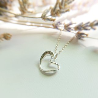 ABOUT LOVE - Throbbing Heart Necklace - Rhodium plated