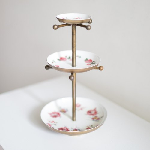 OOPSY Life - rose ceramic disc three jewelry rack - RJB