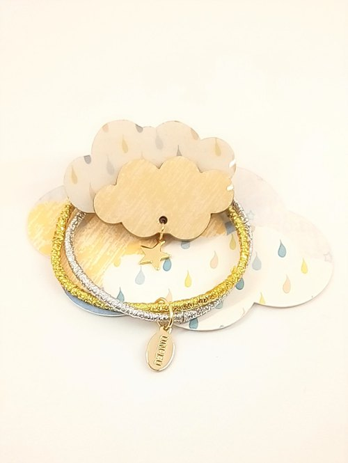 Clouds tresses rubber band hair accessories