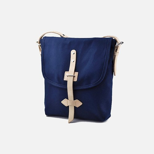 Carpenter line LINE ARTISANAL retro canvas shoulder bag Messenger Bag original art hand-bag blue