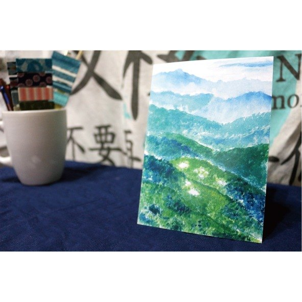 [Taiwan] alpine gem on the mountain. Pools can be high - hand-painted postcards