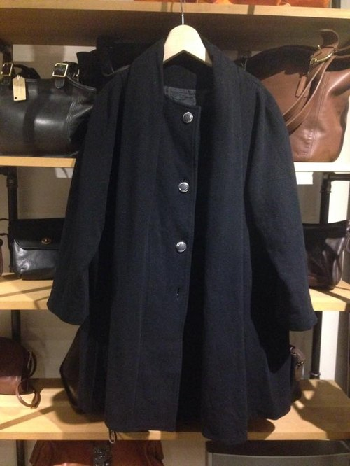 CJ-2875 black wool coat