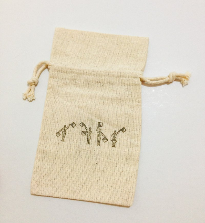Semaphore (LOVE) small cotton pouch
