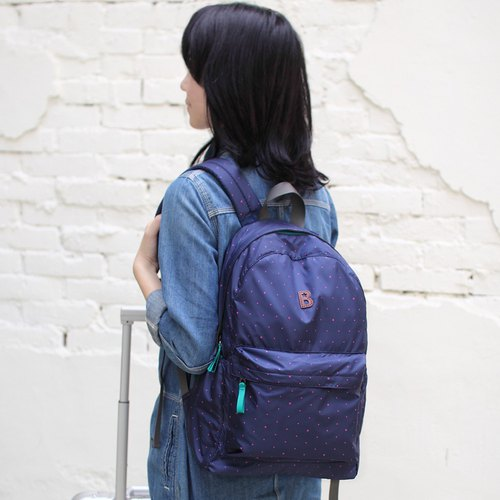 Mildred Backpack(A4 OK)- Dark blue)(Preorder NOW. 6/5 Shipped) _100416-30