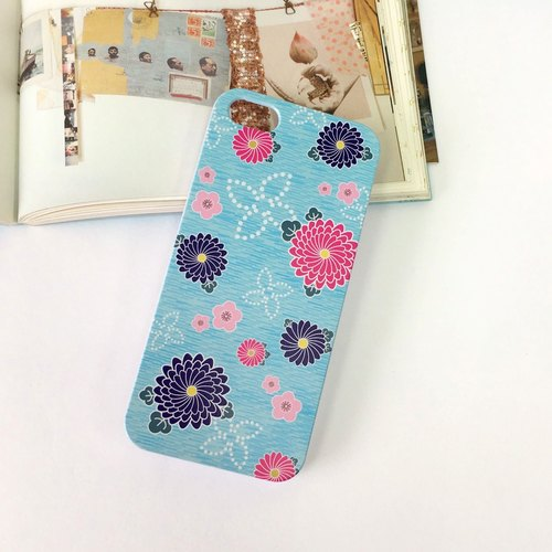 Japan Kimono Light Blue Pattern Print Soft / Hard Case for iPhone 7 case, iPhone 7 Plus case, iPhone 6/6S, iPhone 6/6S Plus, Samsung Galaxy Note 7 case, Note 5 case, S7 Edge case, S7 case