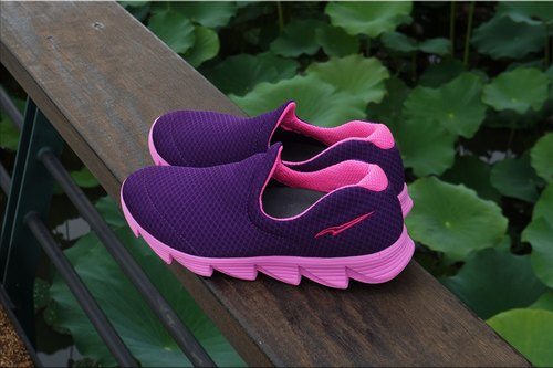 VPEP walking shoes / Love Series / purple with purple / light and breathable, minimalist (the final amount of clear)