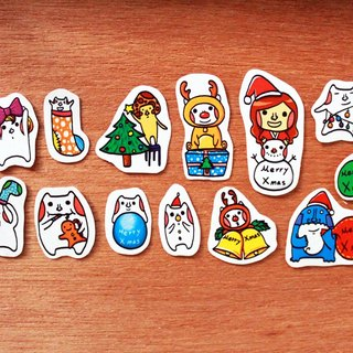 * Christmas sticker Shamao